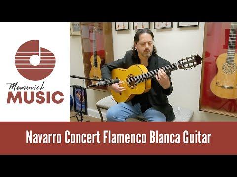 Demo: Navarro Concert Flamenco Blanca Guitar / MemorialMusic.com