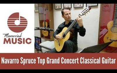 Demo Navarro Spruce Top Grand Concert Classical Guitar / MemorialMusic.com