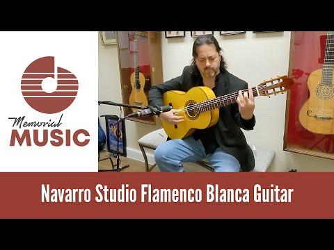 Demo: Navarro Studio Flamenco Blanca Guitar / MemorialMusic.com